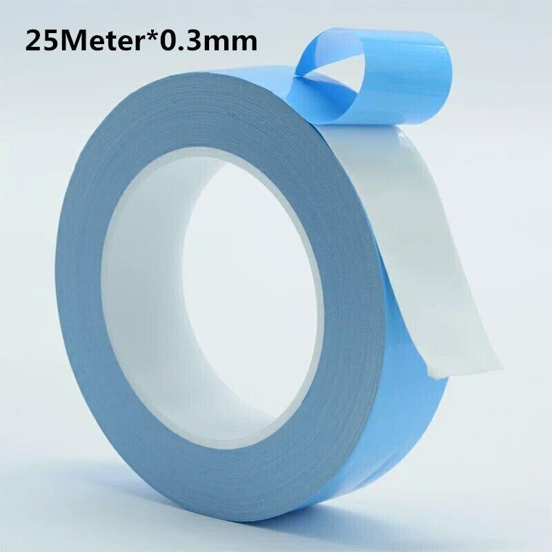 25 Meter 0.3mm épais conduction thermique double face ruban adhésif, lumière bande, chaleur rayonnement résistant ruban isolant