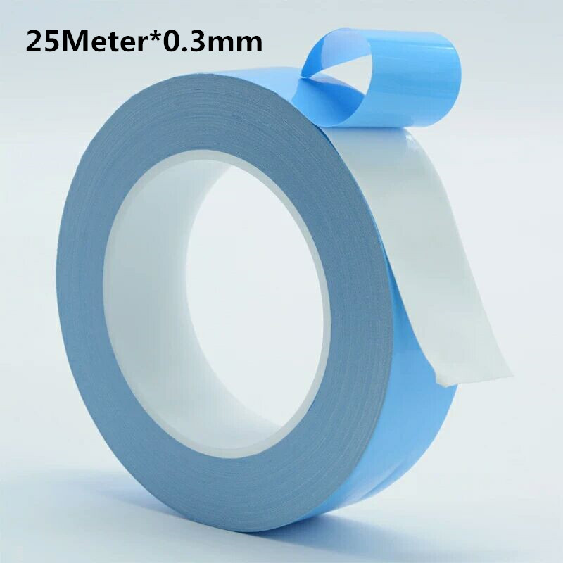 Thermal Tape 25 Meter 0.3mm Thick Heat Conduction Double Sided Adhesive Tape, Light Strip, Resistant Insulation Tape