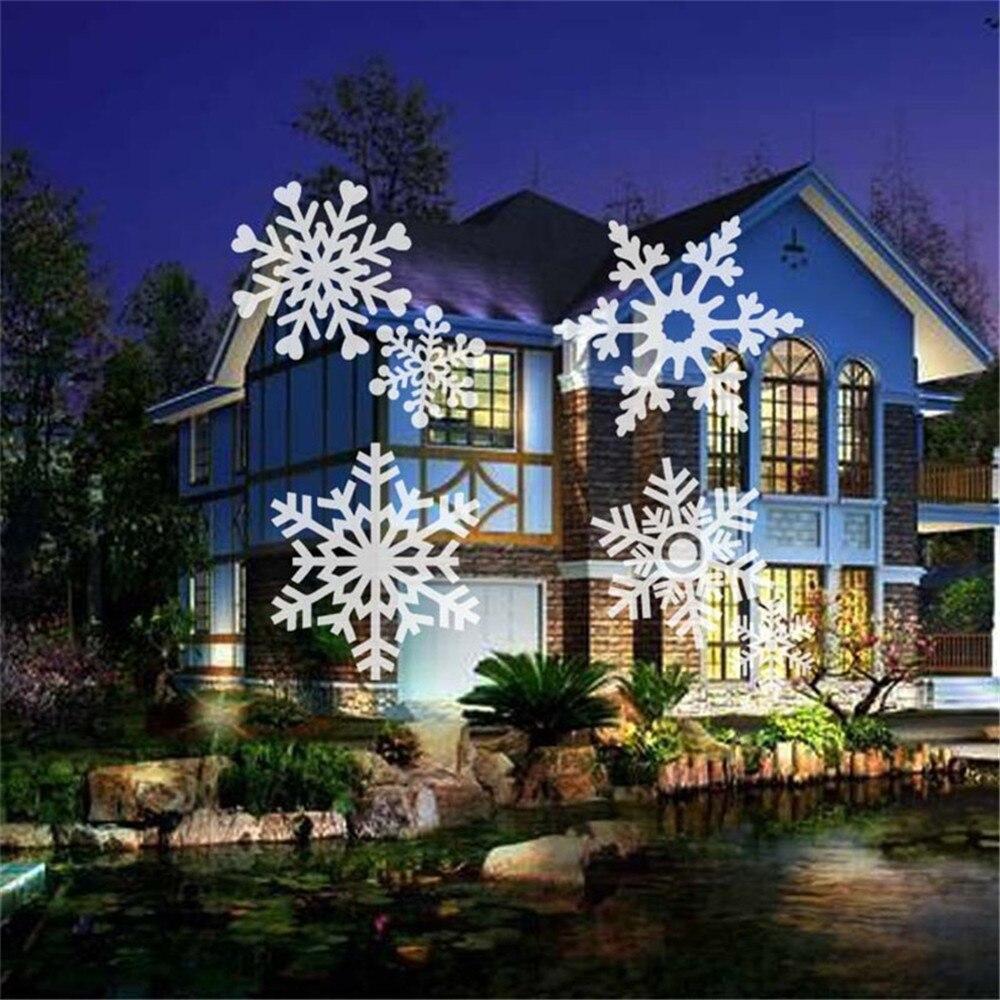 floco de neve led luz palco para festa paisagem jardim luz