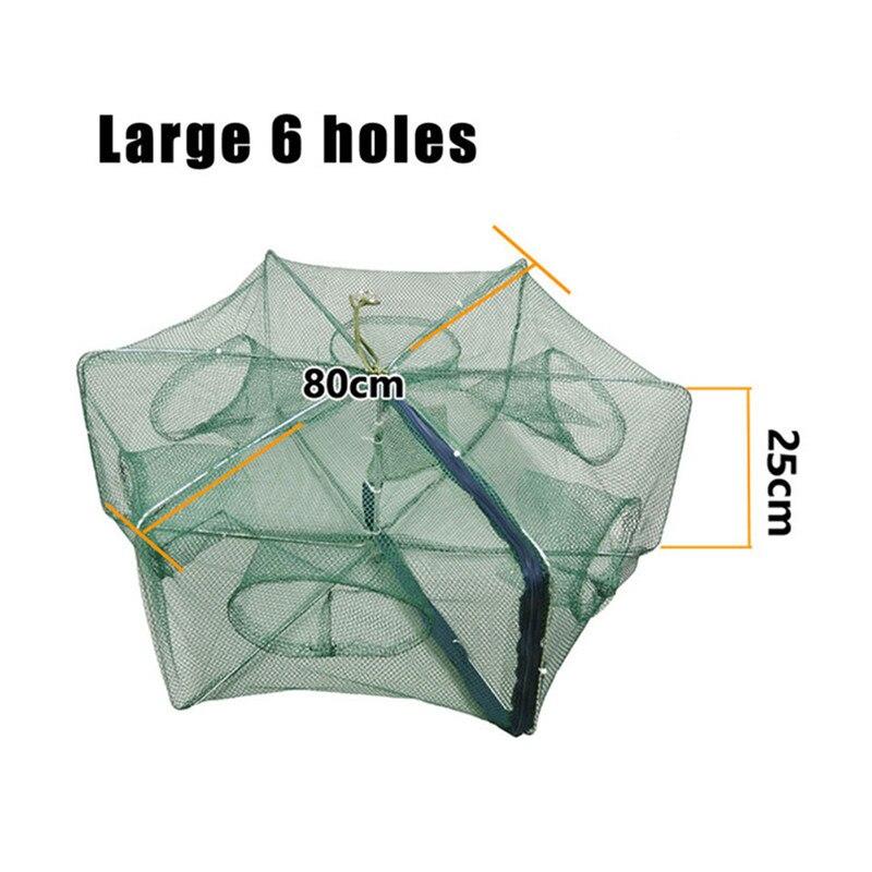 Pequena rede de pesca dobrada 6812 buraco