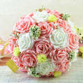 New Arrivals10 Colors High Quality Artificial Rose Flower Bridesmaid Bridal Wedding Bouquet Of Brbide FW141