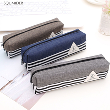 Pen-Holders Pencil-Box School-Supplies Simple Stationery Zipper for Boys Girls Design-Style