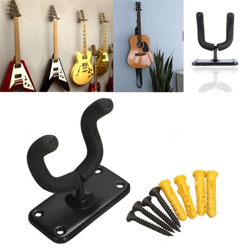 Maxfind soporte skateboard suspensión de gancho soporte pared montaje de Rack soporte de pantalla se adapta a la mayoría de Bass fácil de instalar + tornillos