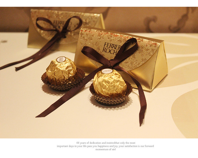100pcs Wedding Favors And Gifts Baby Shower Paper Candy Box For Ferrero Rocher Chocolate With