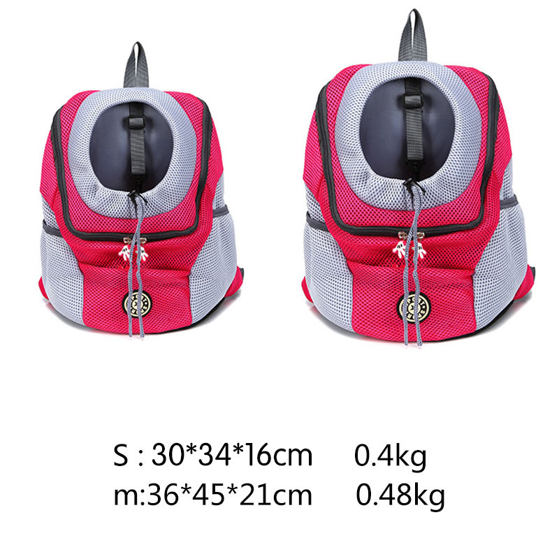 Venxuis Outdoor Pet Dog Carrier Bag Pet Dog Front Bag New Out Double Shoulder Portable Travel Backpack Mesh Backpack Head 1