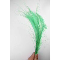 100pcs 100% natural green peacock sword feather 30 40cm/12 16inch for Diy costume mask headdress