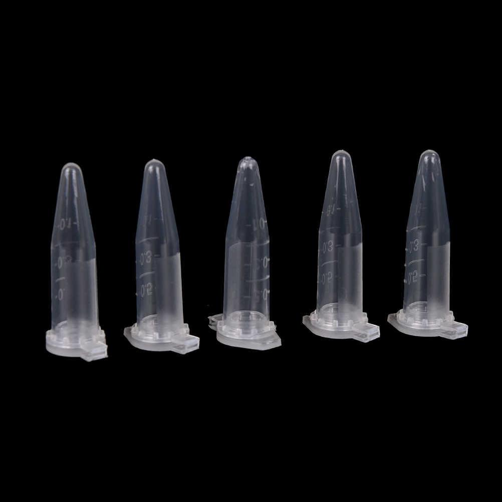 0.5 Ml Centrifuge Vial Snap Cap Wadah untuk Laboratorium Sampel Spesimen Alat Laboratorium 50 Pcs Bening Mikro Tabung Plastik