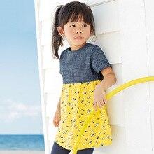 2016 d'été 2-7 ans filles robe genou-longueur robe, couleurs mélangées mignon vêtements 514