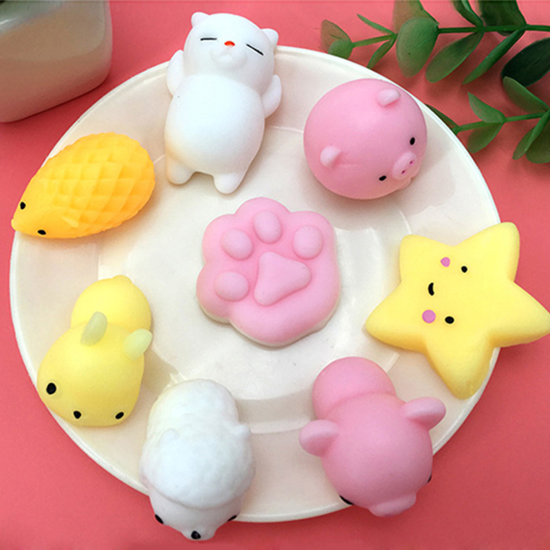 Mini Squishy Soft Cute Toy Animal Ball Decompression Toy Fun Soft Stress Squeeze Toys Phone DIY Accessories Funny Gift For Kids
