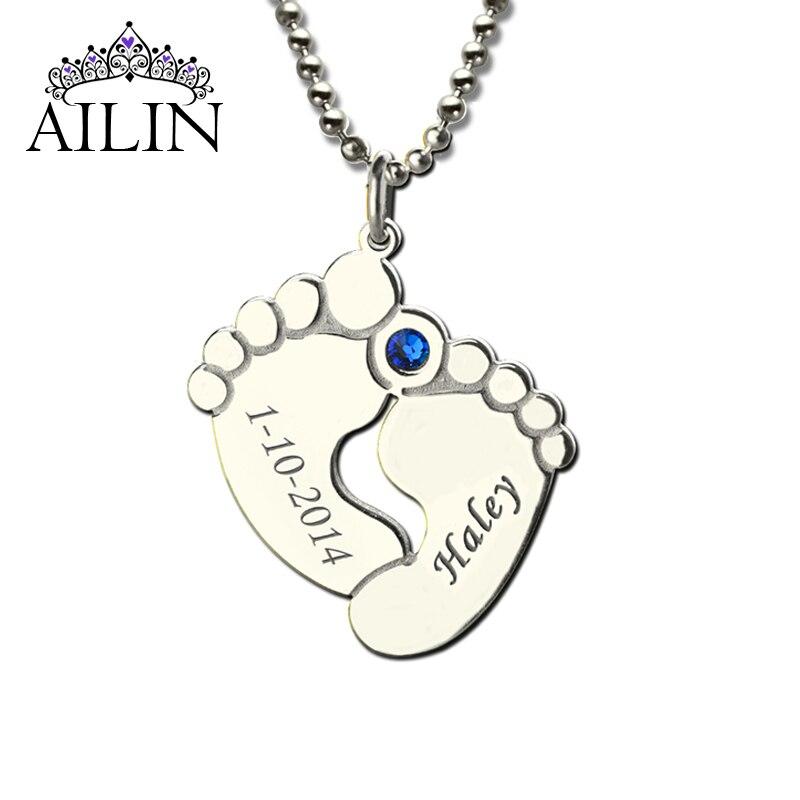 Aliexpress.com : Buy Personalized Baby Feet Birthstone