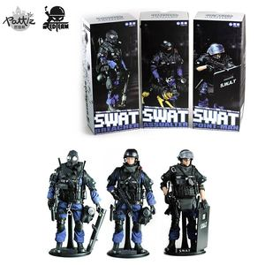 Image 5 - PATTIZ 1/6 Scale Military Solider Figure Toys Set Collectable US Swat Team Model DIY Clothes Doll Action Figure Gun Toy for Boys
