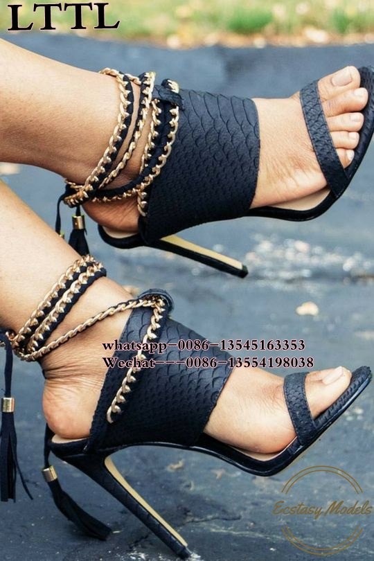 Tassel Gladiator Sandals Women Pumps gold Chain High Heel Shoes Woman open toe Lace Up Party Dress Shoes Sexy Summer Slippers sexy glossy gold caged party stiletto heel shoes summer ankle boots women peep toe strappy gladiator sandals women party pumps