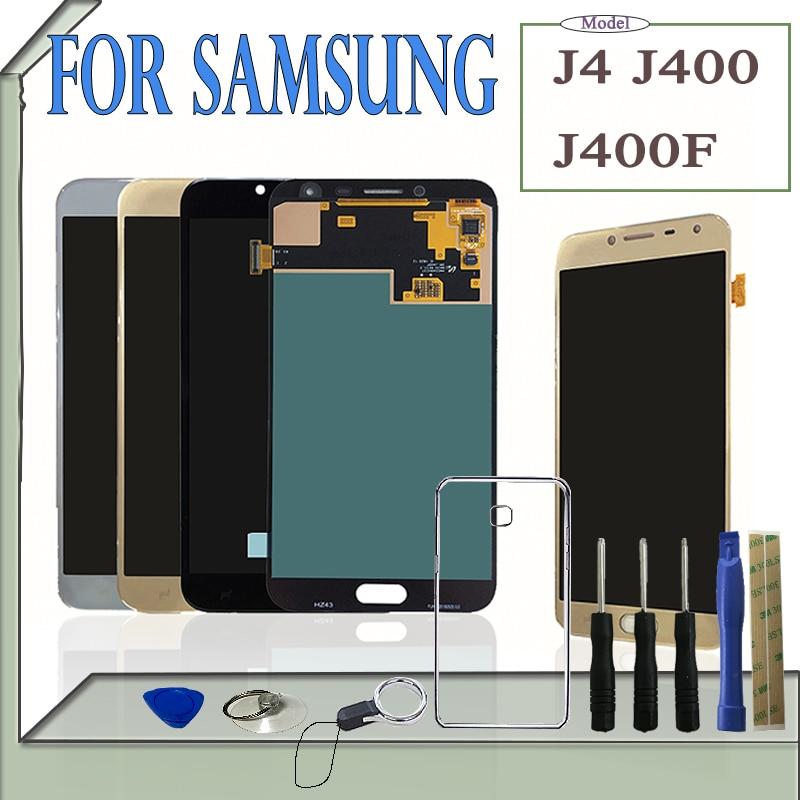 SZHAIYU 5.5 Amoled LCD J400 Oled  LCD Display Touch Screen Digitizer For Samsung Galaxy J4 J400 J400F SM-J400F / DS With ToolsSZHAIYU 5.5 Amoled LCD J400 Oled  LCD Display Touch Screen Digitizer For Samsung Galaxy J4 J400 J400F SM-J400F / DS With Tools