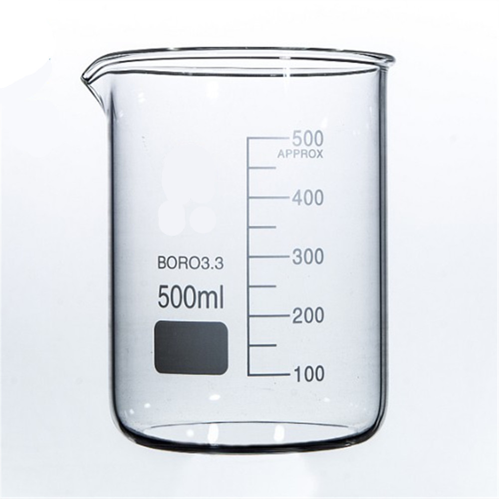 500mL Glass Beaker Low Form New Chemical Lab Glassware