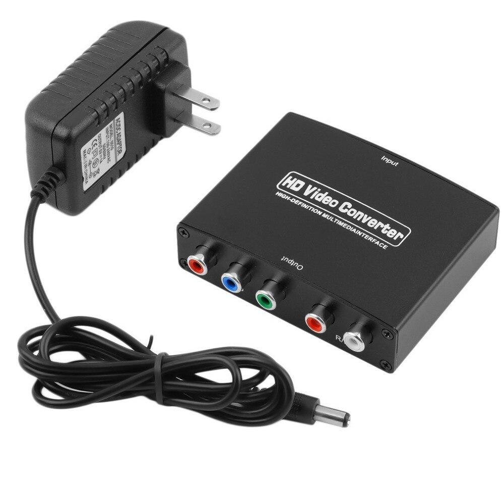 1080 p HD Claro HDMI Para Componente RGB vídeo YPbPr e R/L Conversor Adaptador de áudio Amplificador HDMI Conversor suporta HDCP1.2