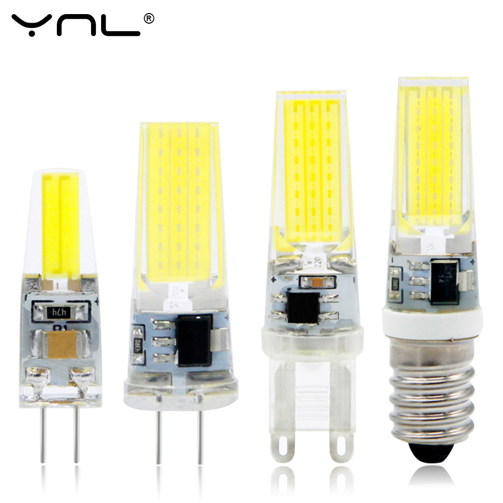YNL Bombillas LED Bulb G9 G4 E14 220V 3W Lampada G4 LED Lamp 2W AC DC 12V COB Lights Replace Halogen g4 led bulb