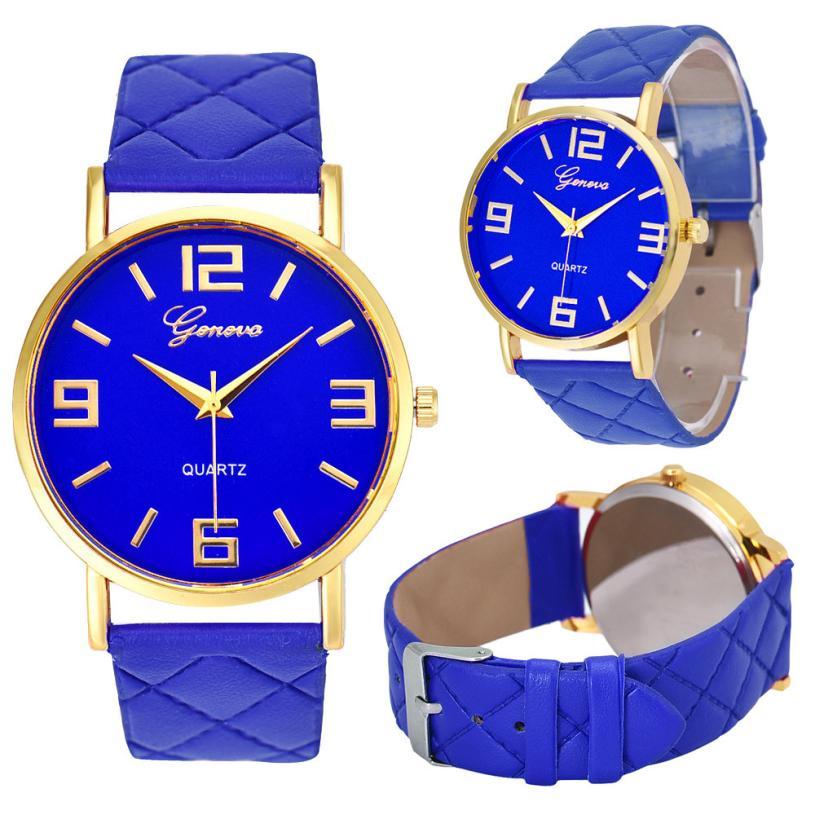 Relogio Feminino Dropshipping Gift Women Watches Faux Leather Analog Quartz Wrist Watch Reloj Mujer July12 relogio feminino dourado reloj mujer