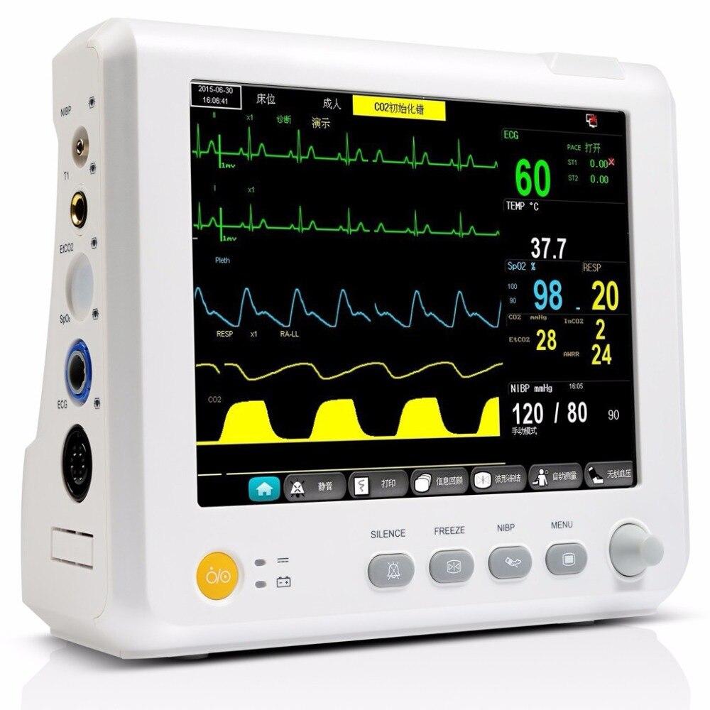 Sprzęt medyczny 7 cal 6 parametry monitora pacjenta NIBP, Spo2, PR, ekg, RESP, temperatura oddział intensywnej terapii/CCU wielu parametrów monitora pacjenta w Ciśnienie krwi od Uroda i zdrowie na AliExpress - 11.11_Double 11Singles' Day 1