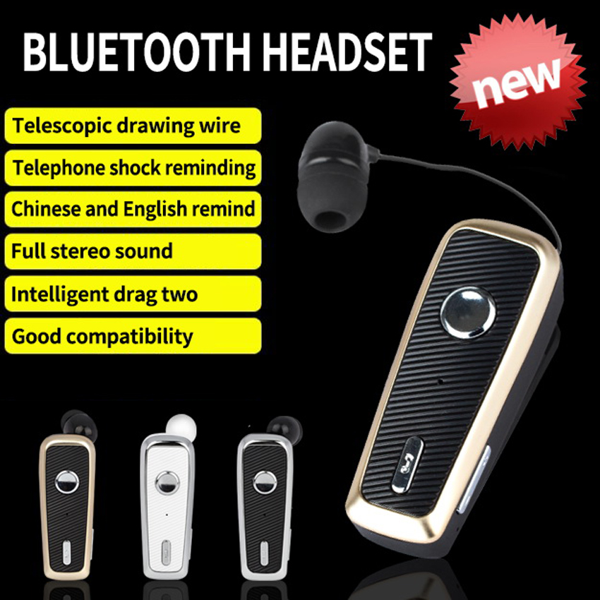 2018 Funelego Original Driving Hands Free Bluetooth Clip Headset Wireless Earphone For iphone Sony Android Smartphone Sport