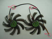 Free Shipping EVERFLOW T129215SM 95mm 3Pin 2Pin DC12V 0.25A For Gigabyte GTX660Ti GTX650 Graphics Card Cooling Fan