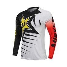 цена на Men's Downhill Jerseys Mountain Bike MTB T-Shirts Off road DH Motorcycle Clothing Motocross Sportswear BMX Cycling Clothes