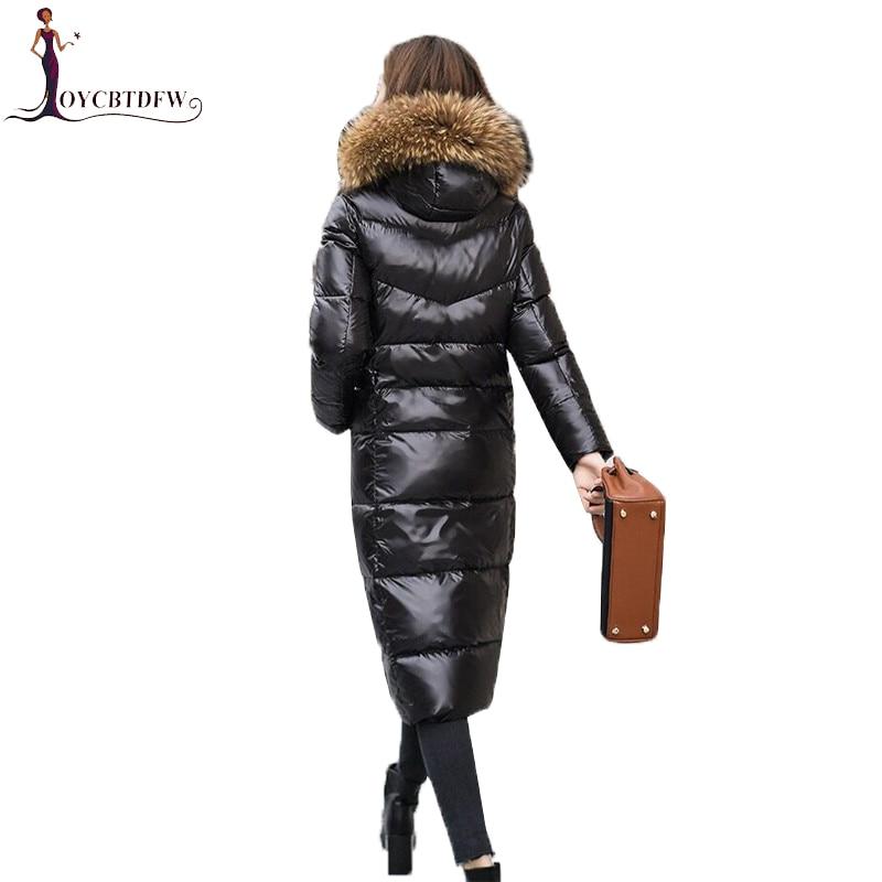 Winter Down Jacket Women Parkas 2018 New Fashion Women Slim Coat Black Hooded Fur Collar Outerwear Coats Long Warm Jackets Xy693