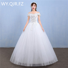 LYGH83#Wholesale 2017 spring summer new fashion lace Bridal Gown Korean bride wedding dresses plus size wedding dress white