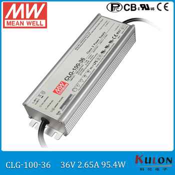 100W 2.65A 36V LED power supply MEAN WELL CLG-100-36 waterproof 36V meanwell led driver IP67 with PFC function