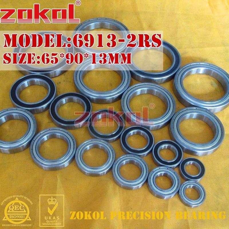ZOKOL 6913 RS Bearing 6913 2RS ZZ 6913 6913-2RS Deep Groove Ball Bearing 65*90*13mm