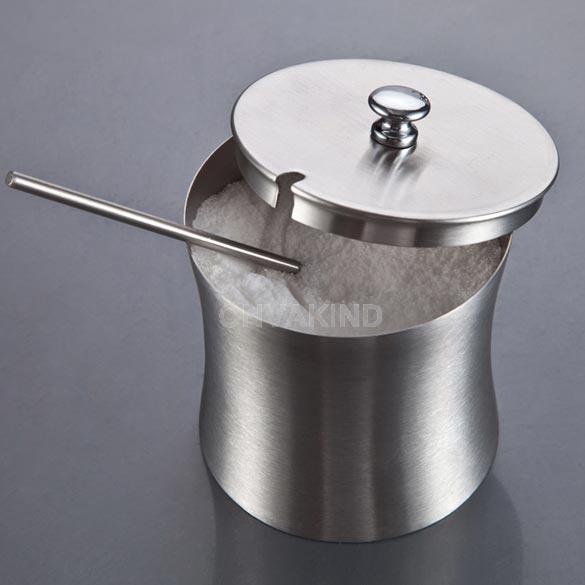 #Cu3 Stainless Steel Salt Pepper Bottle Cruet Condiment Sugar Jar Kitchen Tool