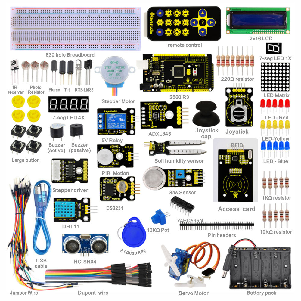 Adeept Project 1602 LCD Starter Kit For Arduino UNO