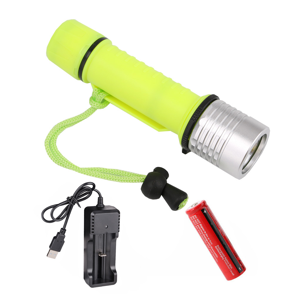 Aluminum LED Diving Flashlight Portable Body Underwater light Waterproof XM-L L2 Torch lamp Hunting Camping Diver lighing new 1000lm led flashlight hunting diving light lantern cree xm l2 underwater flashlight portable mini flash light waterproof
