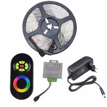 5M 10M Led Strip RGB SMD5050 RGB LED Strip Light 30LEDS/M 15M 20M Diode Tape LED Ribbon With RF Touch Remote Controller