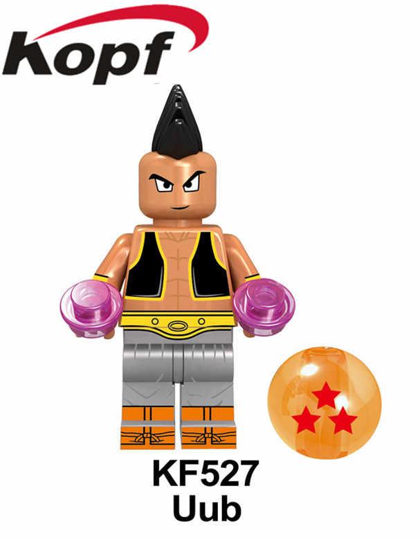 シングル販売スーパーヒーロードラゴンボールシリーズ孫悟空 Uub ヒットゴテンクスベジータクリリンフィギュアビルディングブロック子供のおもちゃ KF6040