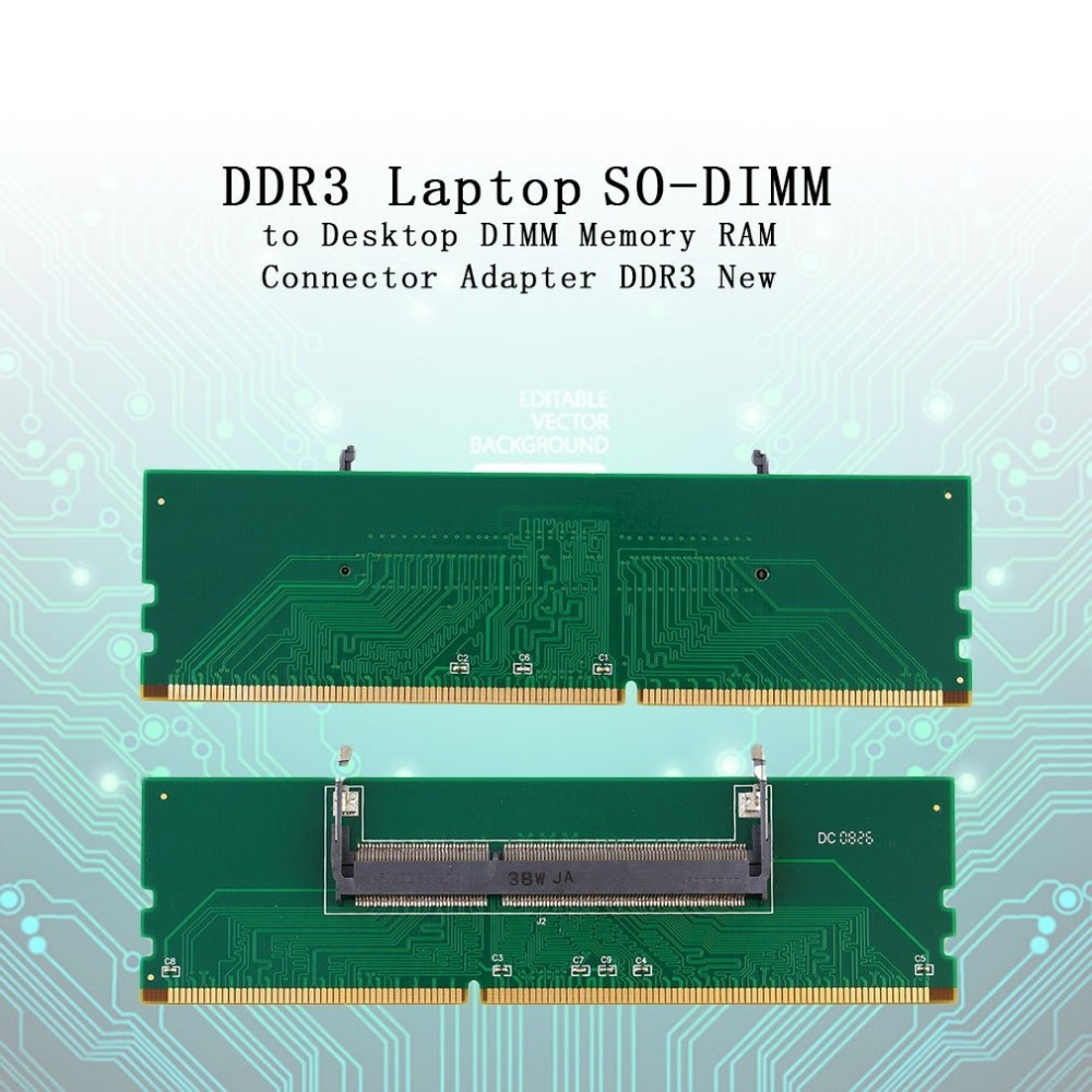 DDR3 Laptop SO-DIMM To Desktop DIMM Memory RAM Connector Adapter DDR3 For Wholesale Dropshipping 2018 New Arrival