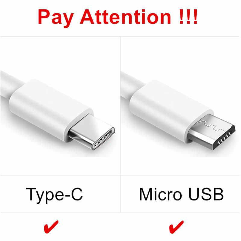 Tipo-C adaptador de cargador de viaje USB para huawei honor 7a 7c pro 9i v9 jugar v10 10 8 9 lite 7 s 7 6x Cable de cargador Micro USB