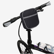 Bike Bag Front Tube Non-slip Bicycle Bags Velcro Fixed Cycling Handlebar Bag Lightweight Portable Bicycle Storage Pocket outdoor cycling non woven fabric bike top tube double storage bag black