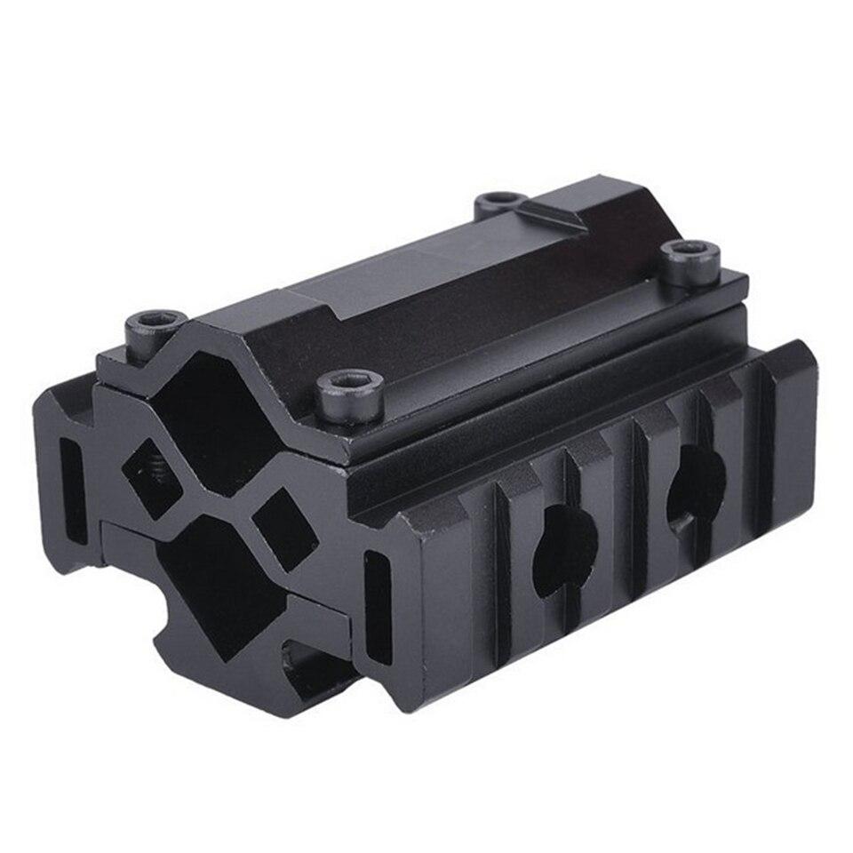 Caza Escopeta Tri-rail Montaje Del Barril 21mm Rieles Picatinny y Weaver con 5 r