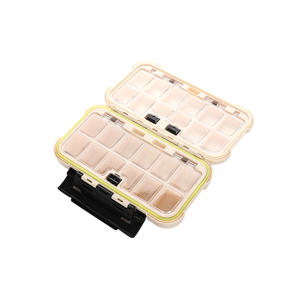 Fishing Tackle Box Bait Lure Hooks Box Bait Storage Case 24 Compartment Fishing Tool Tackle Sorting Box