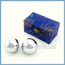 Polished iron ball 50mm health ball chrome Simple design for daily use Red & green paper box Optional solid one available