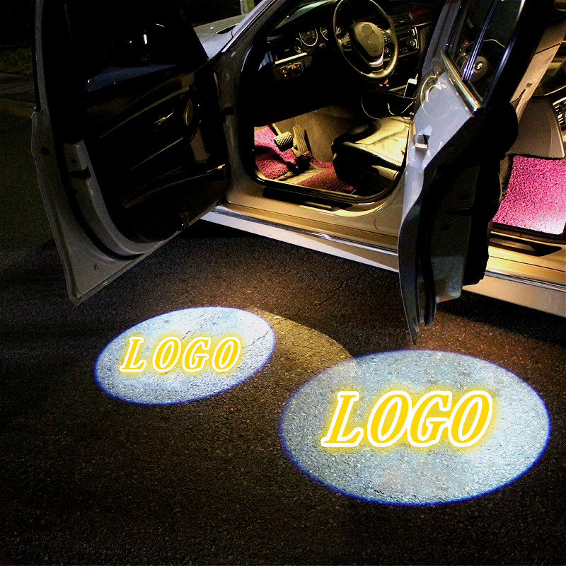 JURUS Universal 2Pcs LED Car Door Lamp Projector Light Welcome Logo For Ford For BYD For Chery Laser Automobile Ghost Shadow