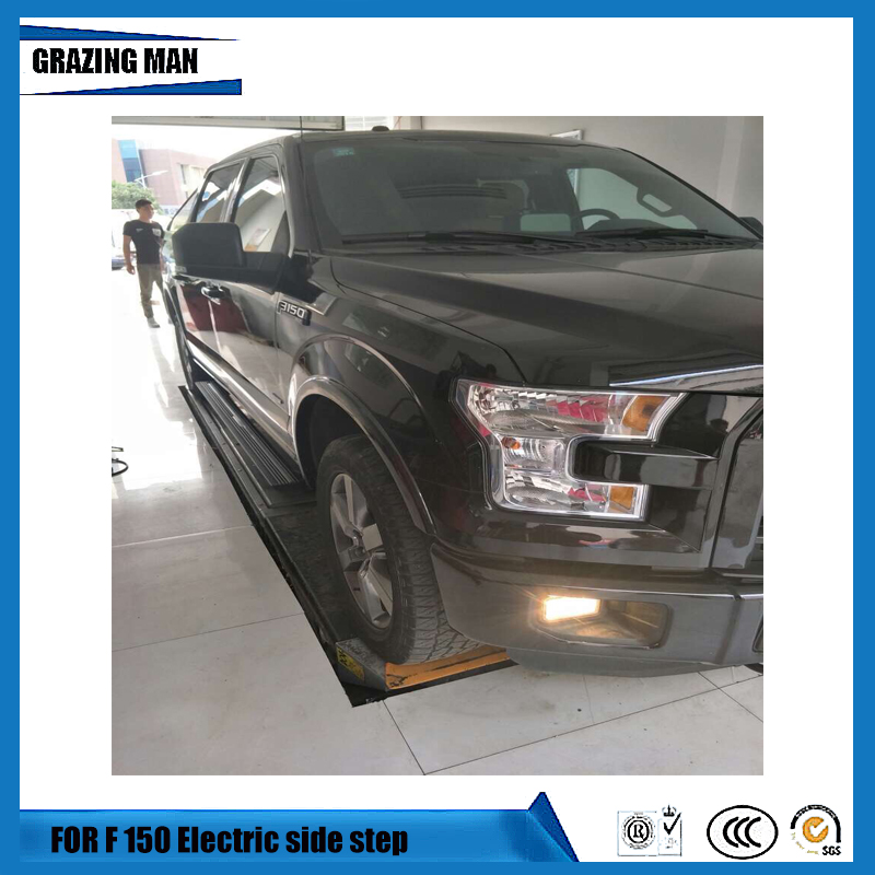 High quality aluminium alloy Flexible side step Electric pedal Motor driven contraction running board for F 150 2012+