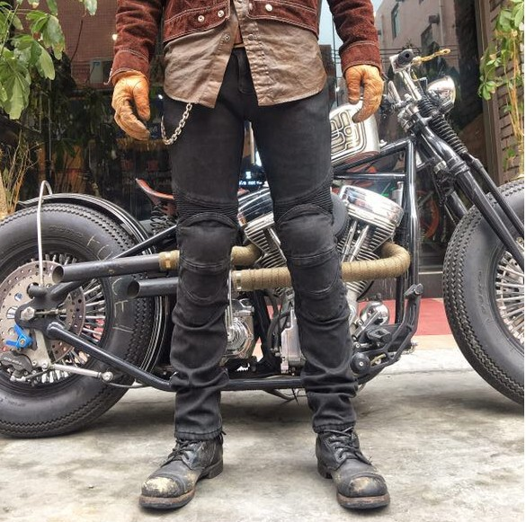 Free Shipping NEW Winter plus velvet warm Uglybros Jeans Motorcycle Riding Pants Protecting Knee Locomotive pants