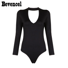 BEVENCCEL Bevencel 2019 Black Womens Long Sleeves Halter Sexy Beach Bodycon Bandage