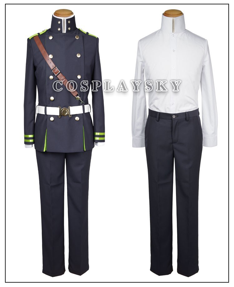 Seraph of the End Owari no SerafuYuichiro Hyakuya Uniform Cosplay Costume_03