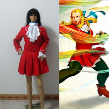 Street Fighter KARIN Cosplay Costume Red Full Set Custom Made Free Shipping