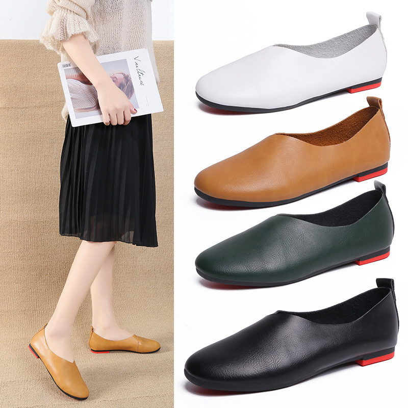 HEEGRAND Woman Ballet Flats Heels Soft Leather Shoes Slip On Loafers Women Flats Women Fashion Shoes Plus Size 35-43 XWD7749HEEGRAND Woman Ballet Flats Heels Soft Leather Shoes Slip On Loafers Women Flats Women Fashion Shoes Plus Size 35-43 XWD7749