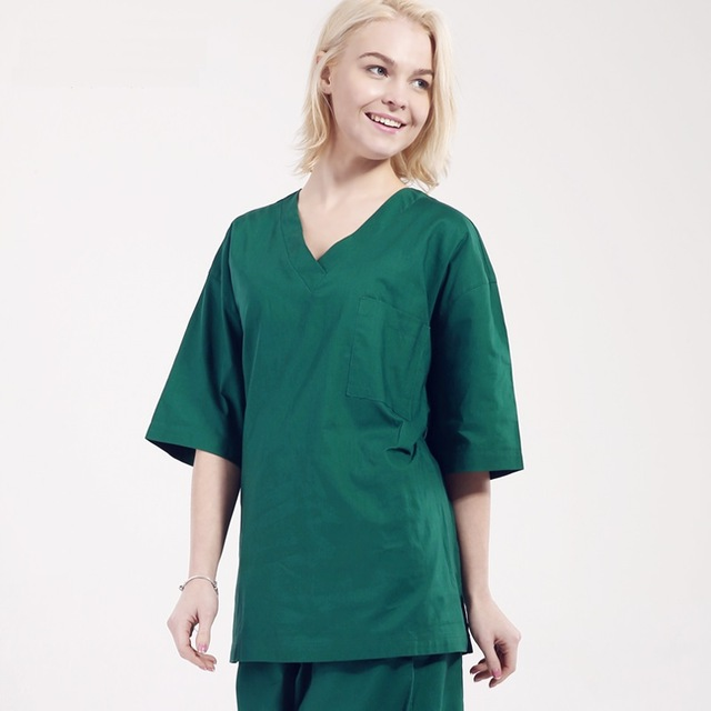 Hospital Isolation Doctor Scrub Set Gown Wash Clothes 100% Cotton ...