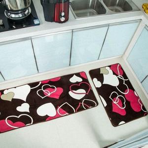 Image 2 - 2 قطعة حصيرة المطبخ الحديثة ممسحة المضادة للانزلاق الطابق المطبخ السجاد شرفة الحمام السجاد مجموعة حمام الحصير امتصاص الماء Tapete