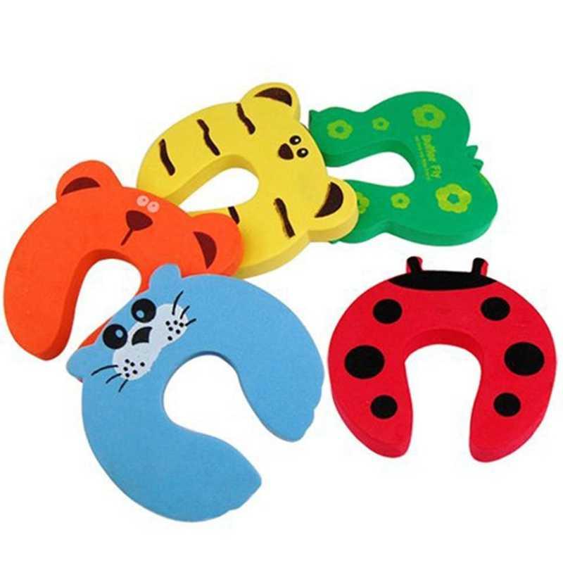 1 قطعة حماية سلامة الطفل لطيف الحيوان الأمن بطاقة الباب سدادة الطفل الوليد الرعاية قفل أمان للأطفال حماية من الأطفال